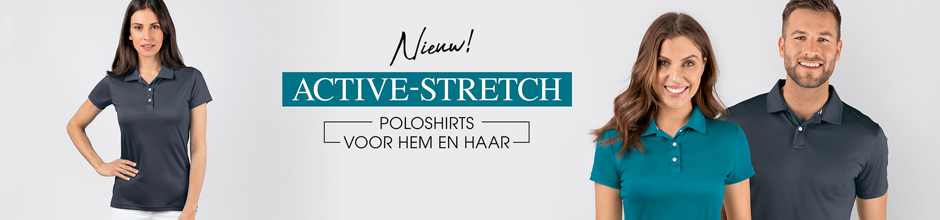 Nieuwe polos active stretch
