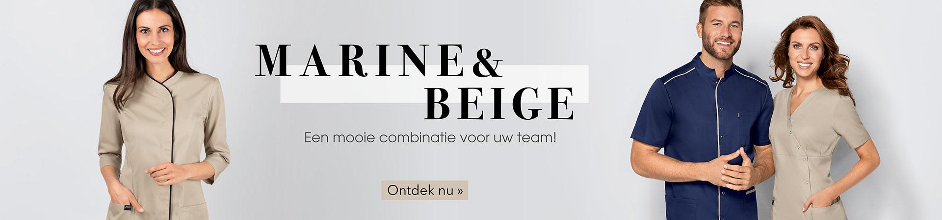 Marine & Beige