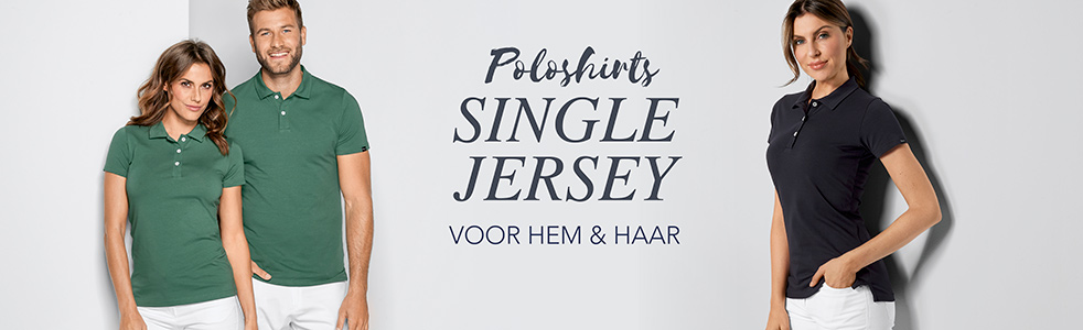 Poloshirts van single jersey